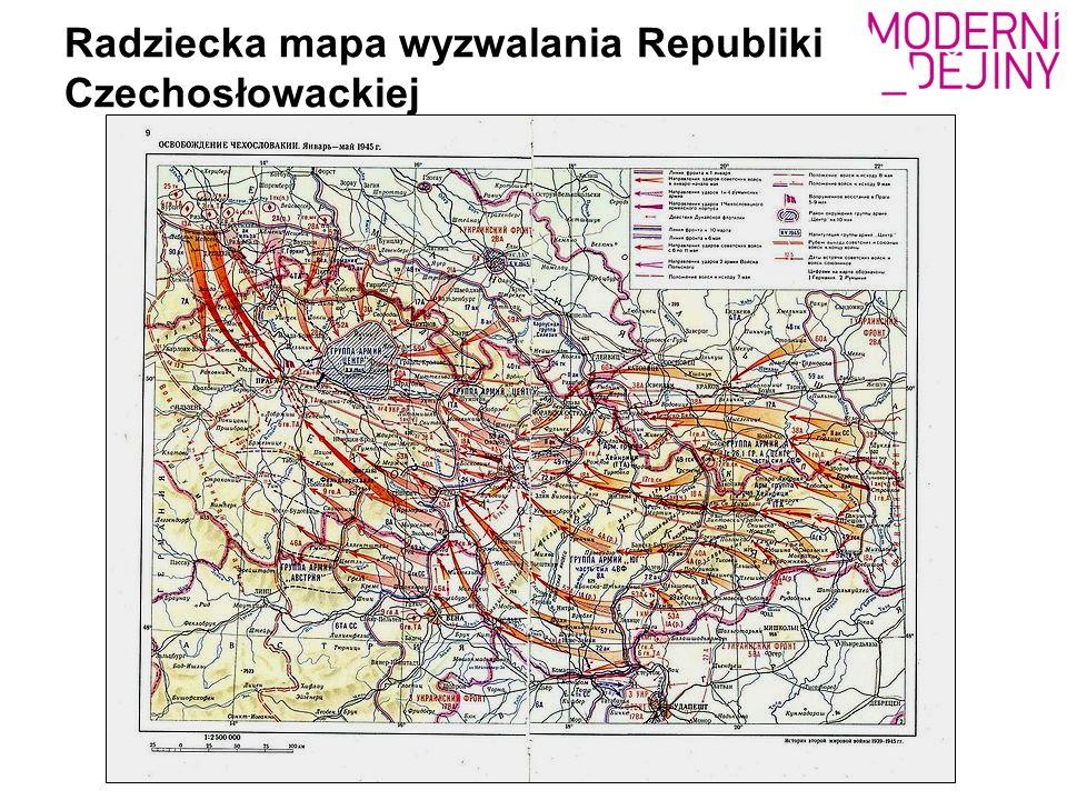 Radziecka mapa wyzwalania Republiki Czechosłowackiej