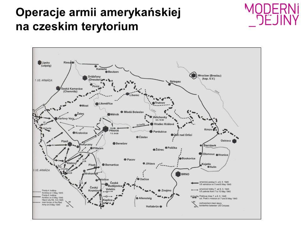 Operacje armii amerykańskiej na czeskim terytorium