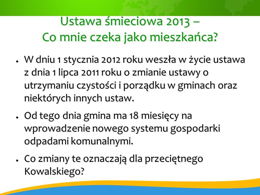 Ustawa śmieciowa 2013 – Co mnie czeka jako mieszkańca.