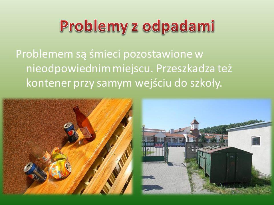 Problemem są śmieci pozostawione w nieodpowiednim miejscu.