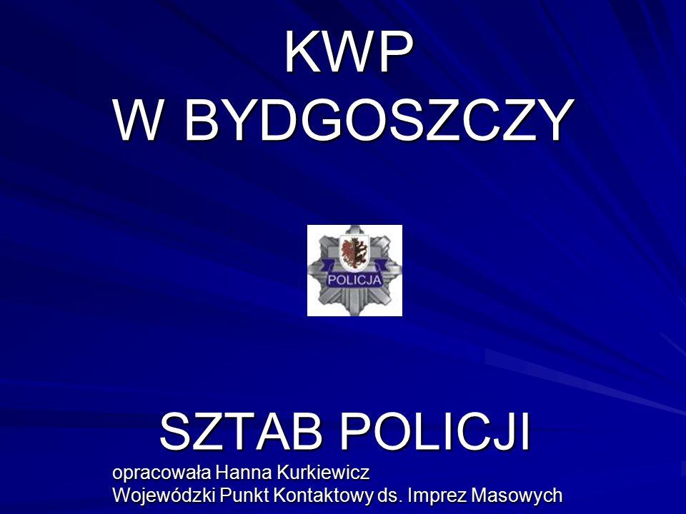 KWP W BYDGOSZCZY KWP W BYDGOSZCZY SZTAB POLICJI opracowała Hanna Kurkiewicz Wojewódzki Punkt Kontaktowy ds. Imprez Masowych