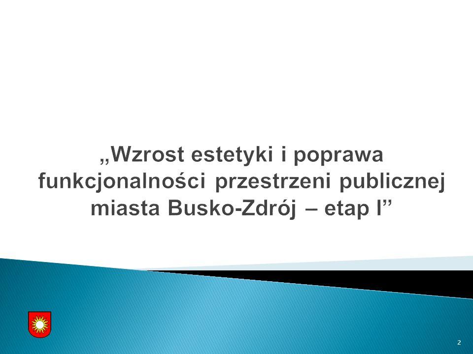 INWESTOR : GMINA BUSKO-ZDRÓJ UL.