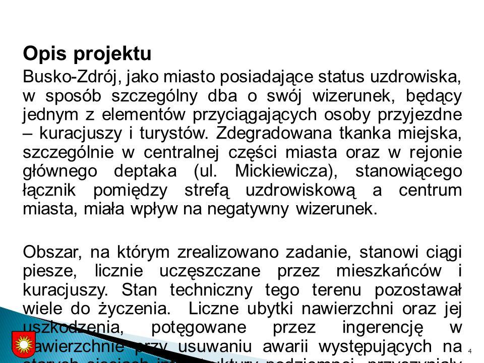 Opis projektu Busko-Zdrój, jako miasto posiadające status uzdrowiska, w sposób szczególny dba o swój wizerunek, będący jednym z elementów przyciągających osoby przyjezdne – kuracjuszy i turystów.
