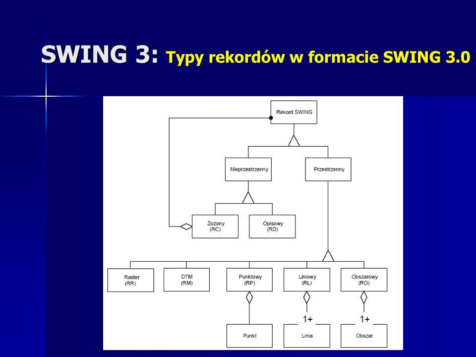 SWING 3: SWING 3: Typy rekordów w formacie SWING 3.0