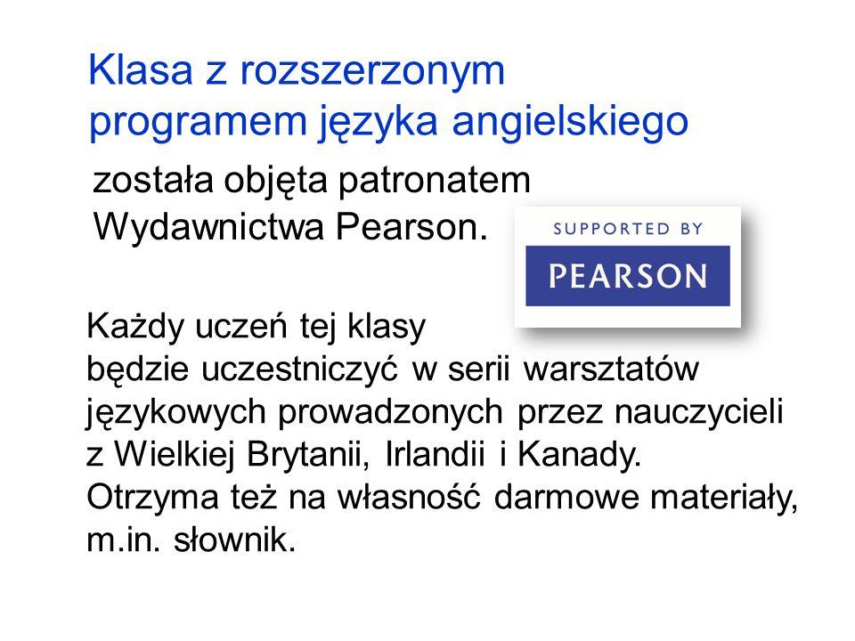 została objęta patronatem Wydawnictwa Pearson.
