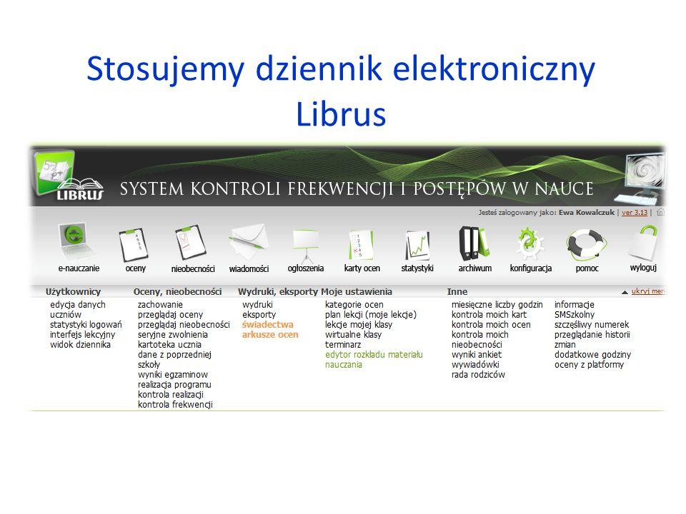 Stosujemy dziennik elektroniczny Librus