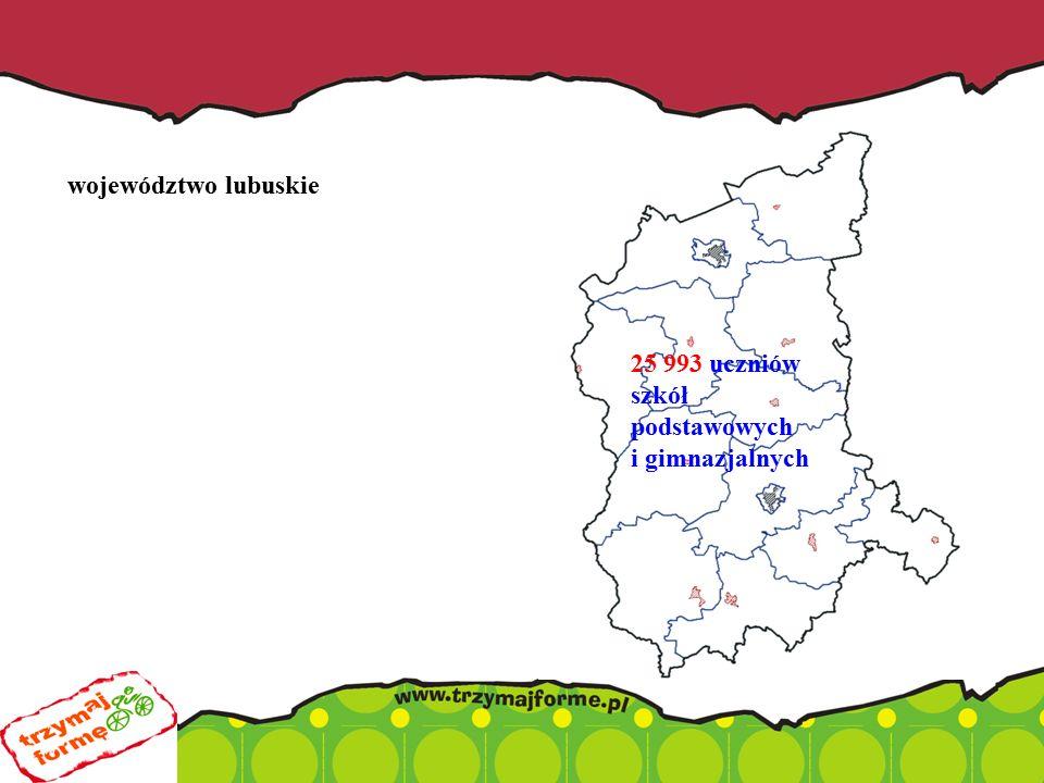 województwo lubuskie 25 993 uczniów szkół podstawowych i gimnazjalnych