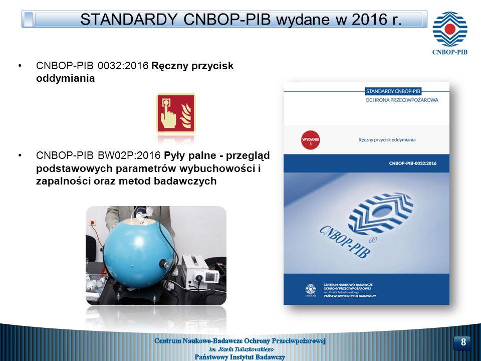 STANDARDY CNBOP-PIB wydane w 2016 r.