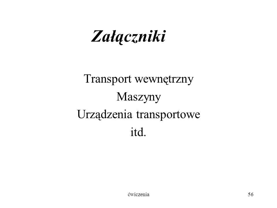 Załączniki Transport wewnętrzny Maszyny Urządzenia transportowe itd. ćwiczenia56