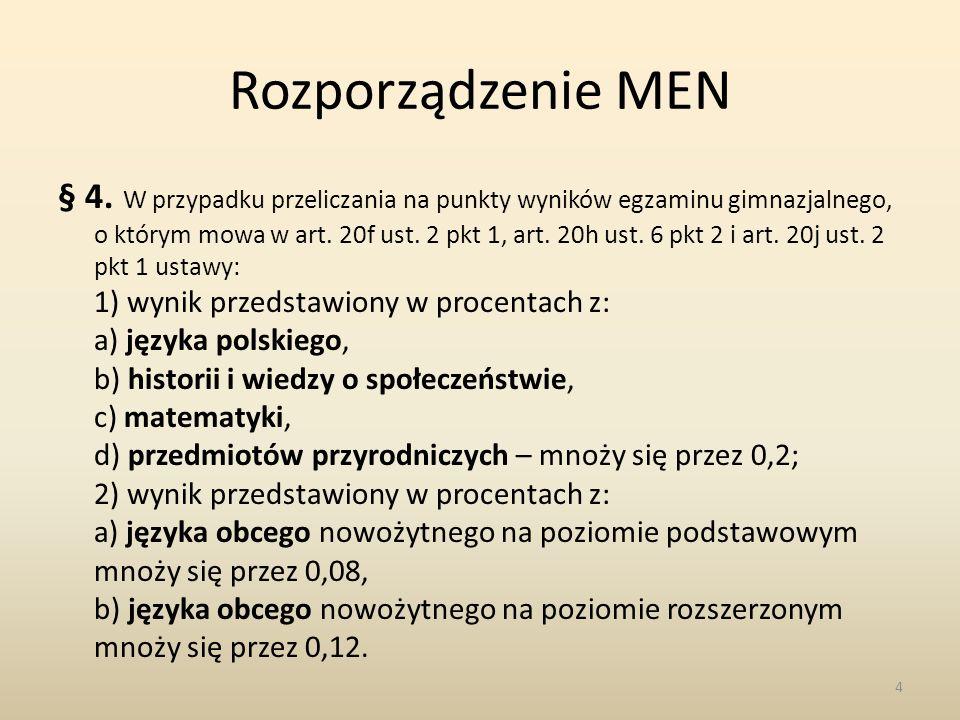 Rozporządzenie MEN § 4.