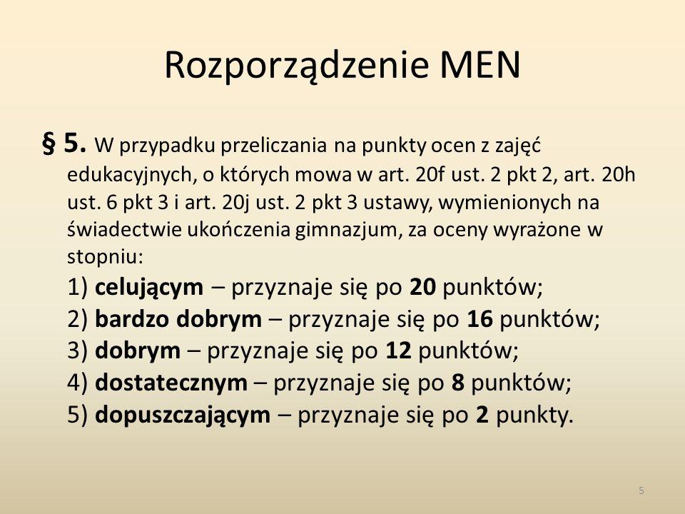Rozporządzenie MEN § 5.