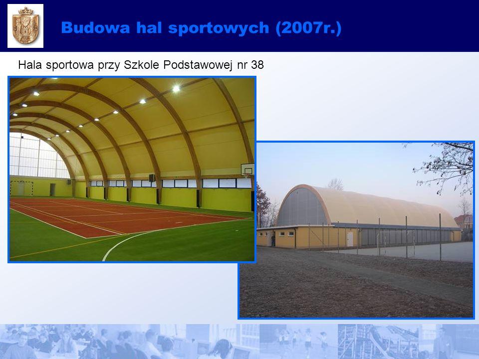 Budowa hal sportowych (2007r.) Hala sportowa przy Szkole Podstawowej nr 38