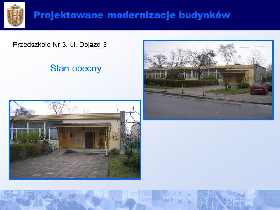 Projektowane modernizacje budynków Przedszkole Nr 3, ul. Dojazd 3 Stan obecny