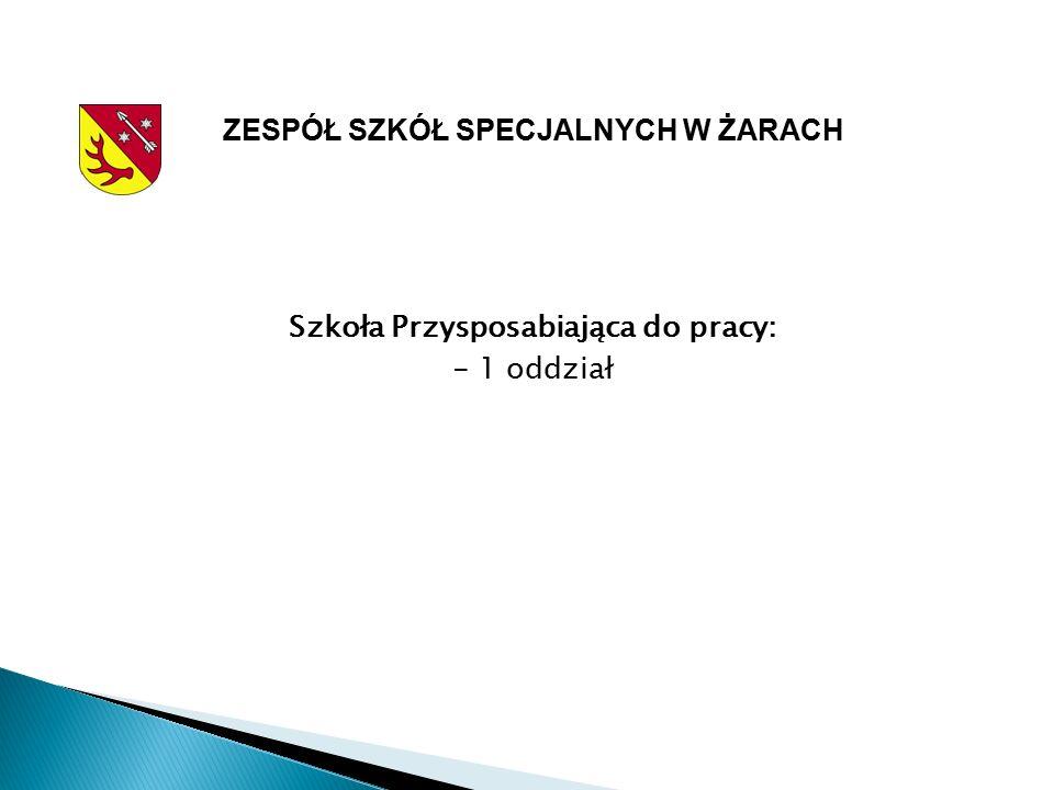 ZESPÓŁ SZKÓŁ SPECJALNYCH W ŻARACH Szkoła Przysposabiająca do pracy: - 1 oddział