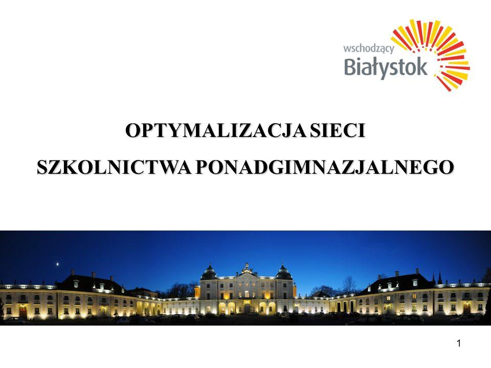 12 OPTYMALIZACJA SIECI Zespół Szkół Ogólnokształcących i Technicznych w Białymstoku (IX Liceum Ogólnokształcące, I Liceum Profilowane, Technikum Zawodowe Nr 1), ul.