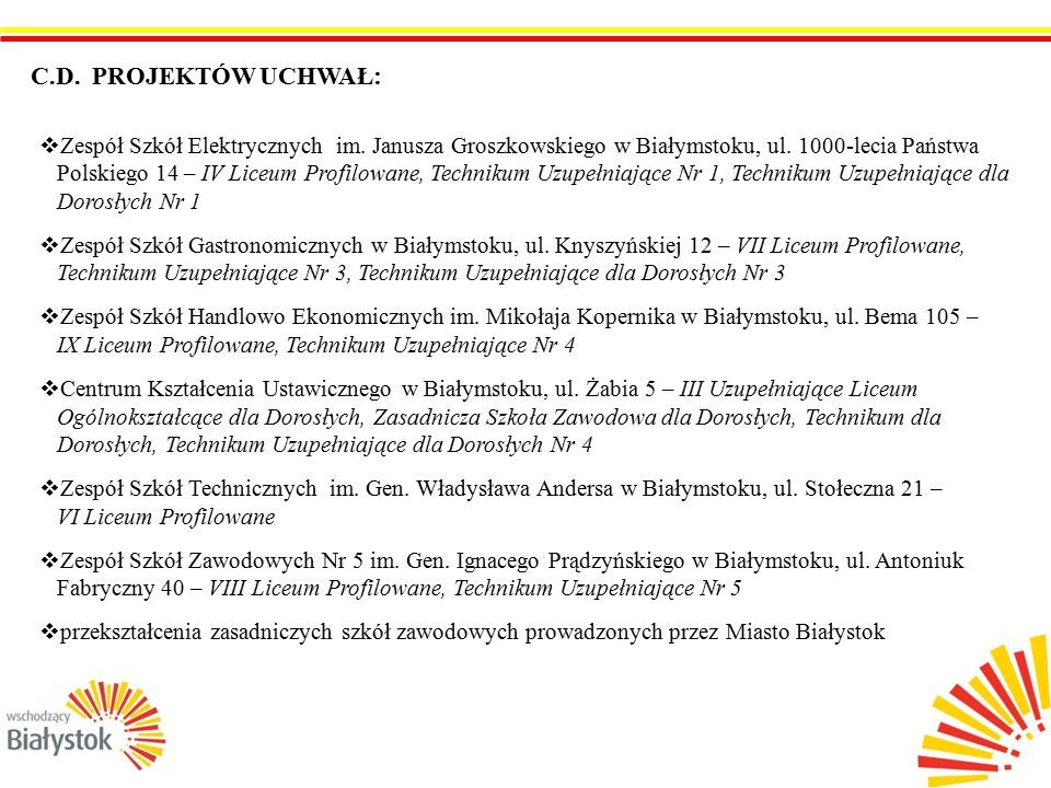 6  Zespół Szkół Elektrycznych im. Janusza Groszkowskiego w Białymstoku, ul.