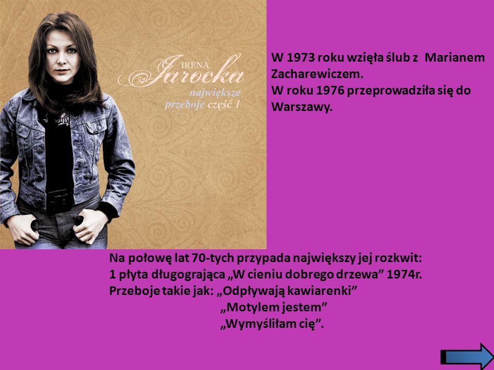 """W 1966 roku wystąpiła na IV festiwalu Piosenki Polskiej w Opolu i w Sopocie z piosenką """"Gondolierzy znad Wisły , napisaną przez Seweryna Krajewskiego."""