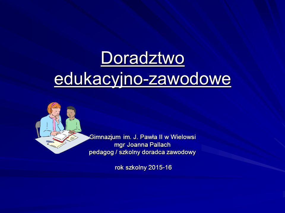 Doradztwo edukacyjno-zawodowe Gimnazjum im.J.