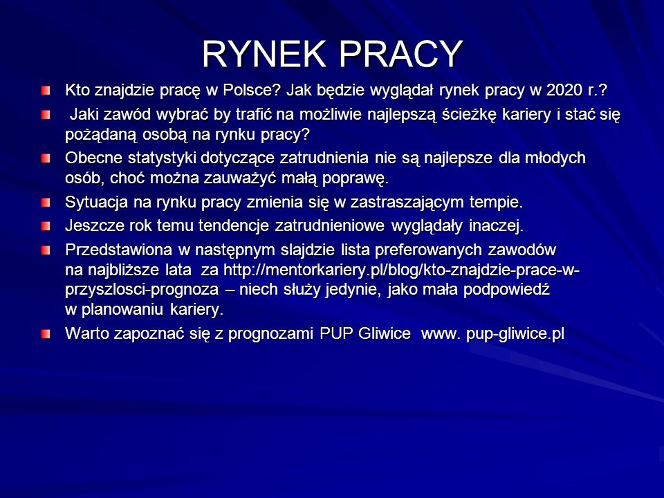 RYNEK PRACY Kto znajdzie pracę w Polsce. Jak będzie wyglądał rynek pracy w 2020 r..