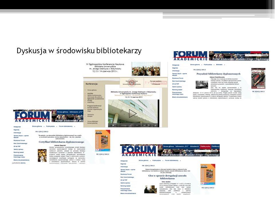 Dyskusja w środowisku bibliotekarzy