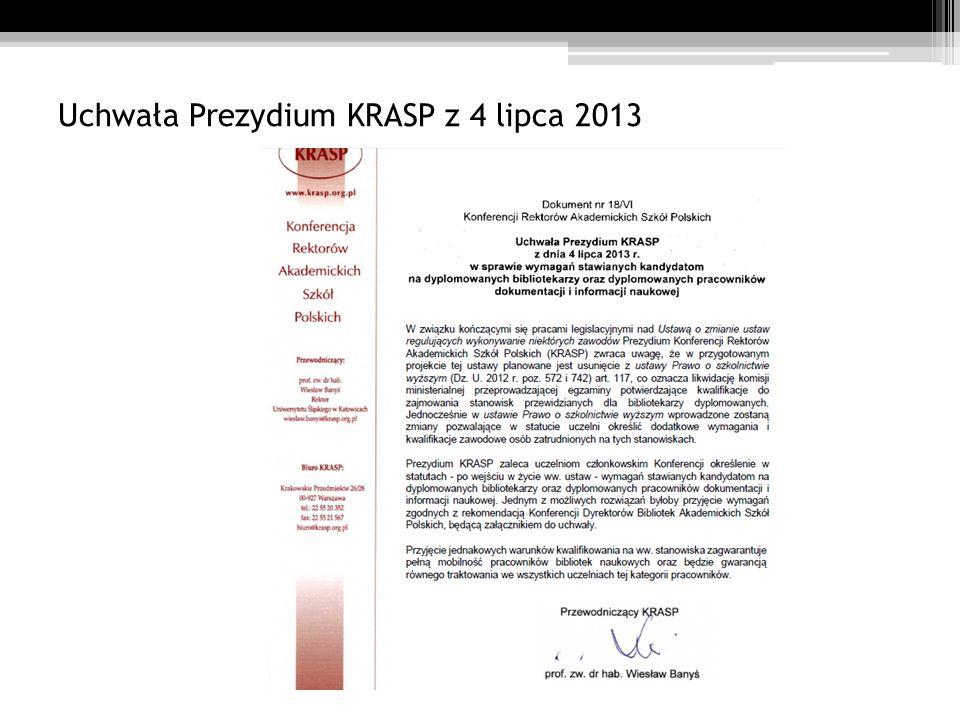 Uchwała Prezydium KRASP z 4 lipca 2013