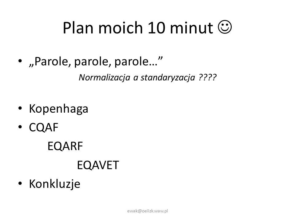 "Plan moich 10 minut ""Parole, parole, parole… Normalizacja a standaryzacja ."
