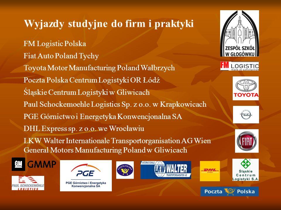 Wyjazdy studyjne do firm i praktyki FM Logistic Polska Fiat Auto Poland Tychy Toyota Motor Manufacturing Poland Wałbrzych Poczta Polska Centrum Logist