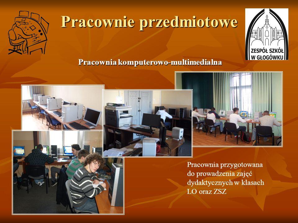 Pracownie przedmiotowe Pracownia komputerowo-multimedialna Pracownia komputerowo-multimedialna Pracownia przygotowana do prowadzenia zajęć dydaktyczny
