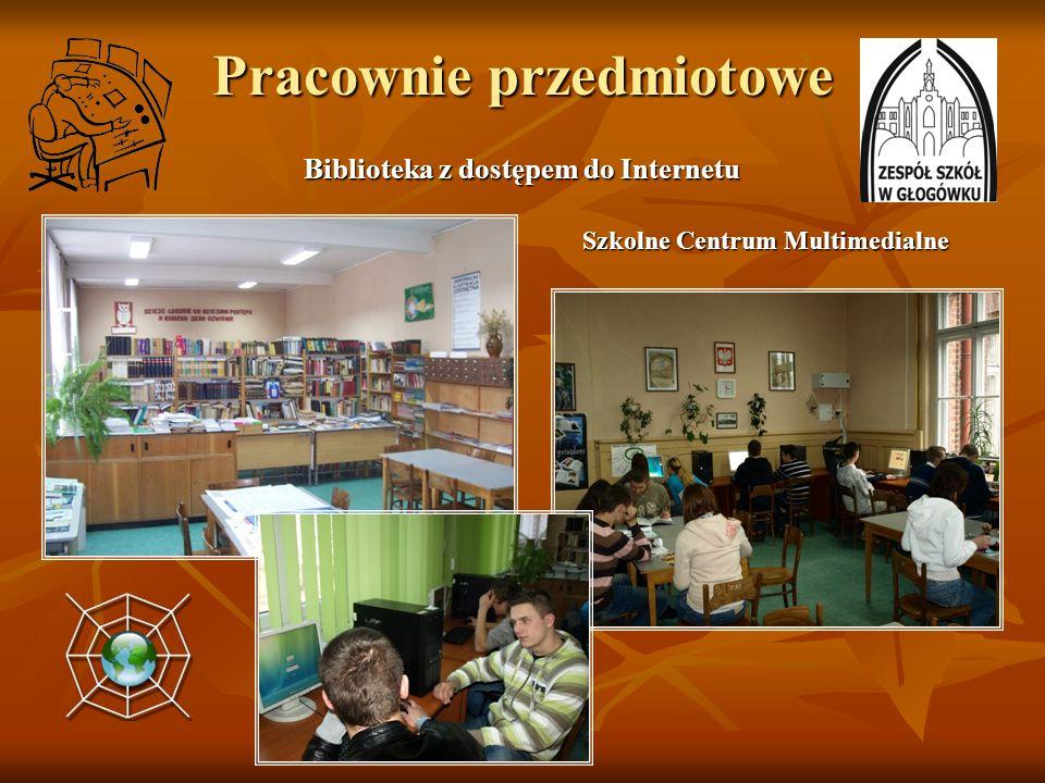 Pracownie przedmiotowe Biblioteka z dostępem do Internetu Szkolne Centrum Multimedialne