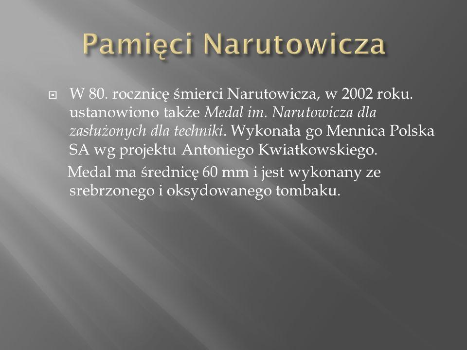  W 80. rocznicę śmierci Narutowicza, w 2002 roku.