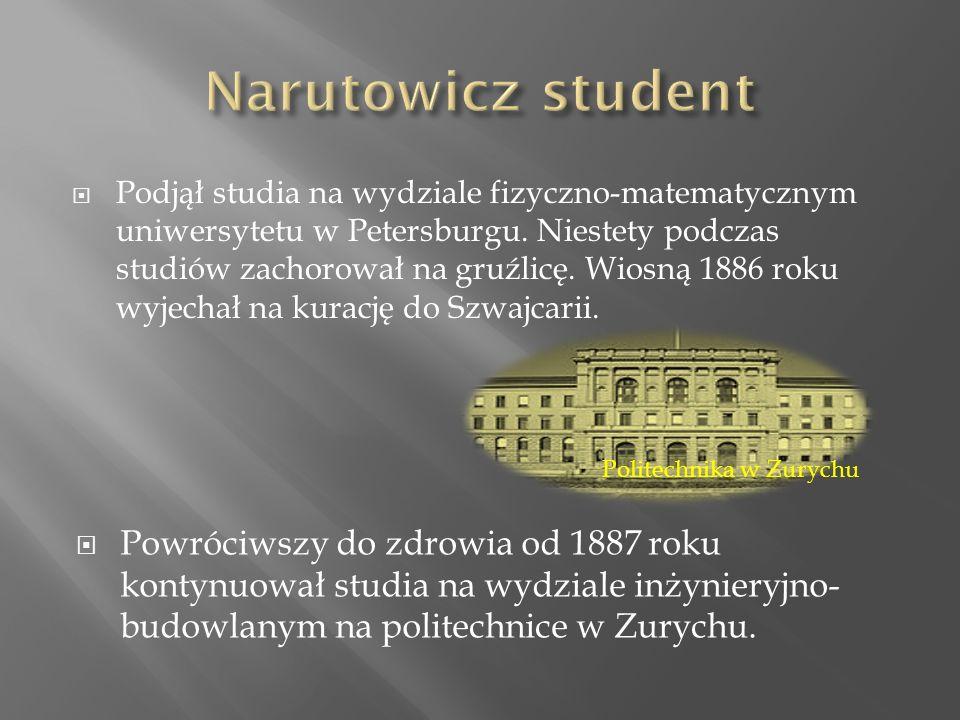  Podjął studia na wydziale fizyczno-matematycznym uniwersytetu w Petersburgu.