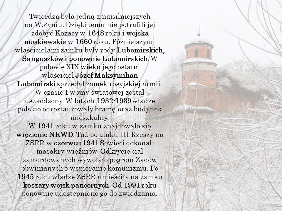 Kozacy wojska moskiewskie Twierdza była jedną z najsilniejszych na Wołyniu.
