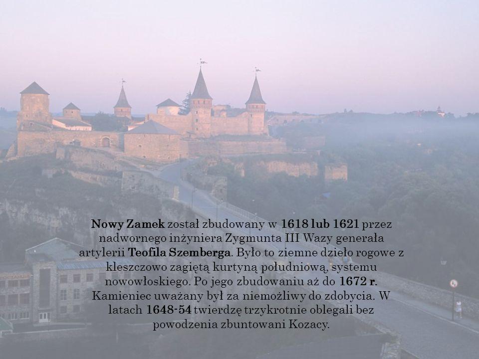 Nowy Zamek został zbudowany w 1618 lub 1621 przez nadwornego inżyniera Zygmunta III Wazy generała artylerii Teofila Szemberga.