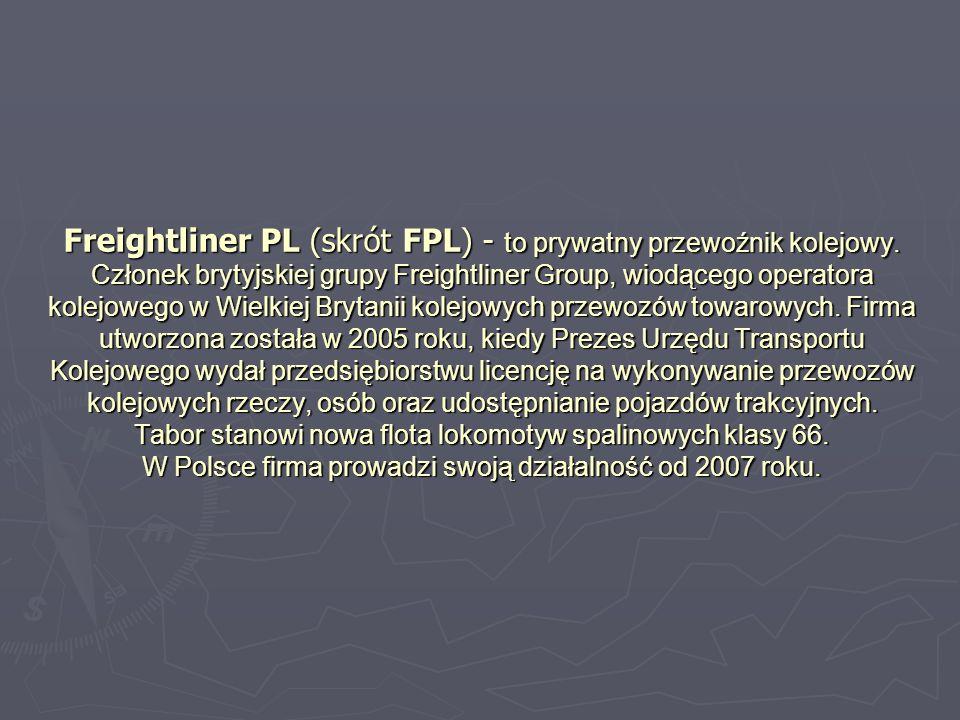 Freightliner PL (skrót FPL) - to prywatny przewoźnik kolejowy.