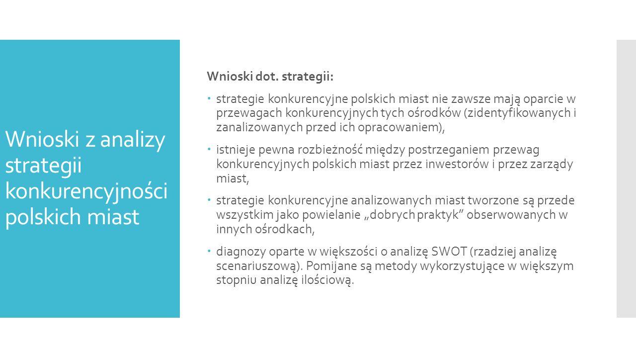 Kierunki przyszłego rozwoju miast w Polsce – propozycja.