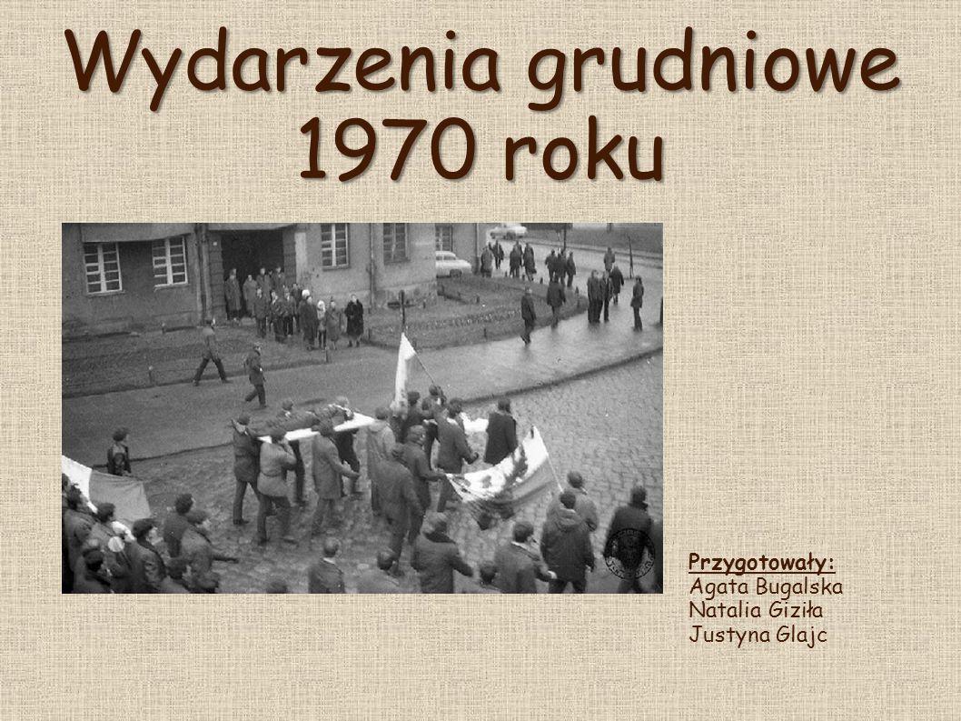 Bunt Robotniczy  Wydarzenia z końców 1970 r.