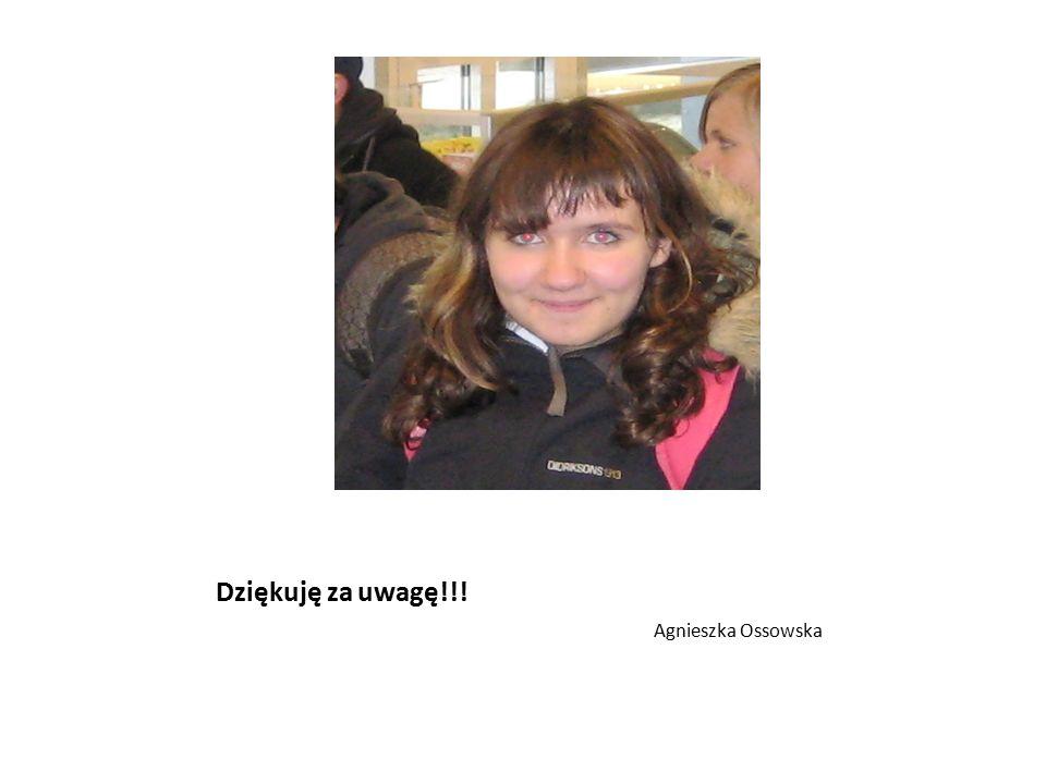 Dziękuję za uwagę!!! Agnieszka Ossowska
