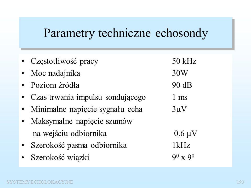 SYSTEMY ECHOLOKACYJNE192