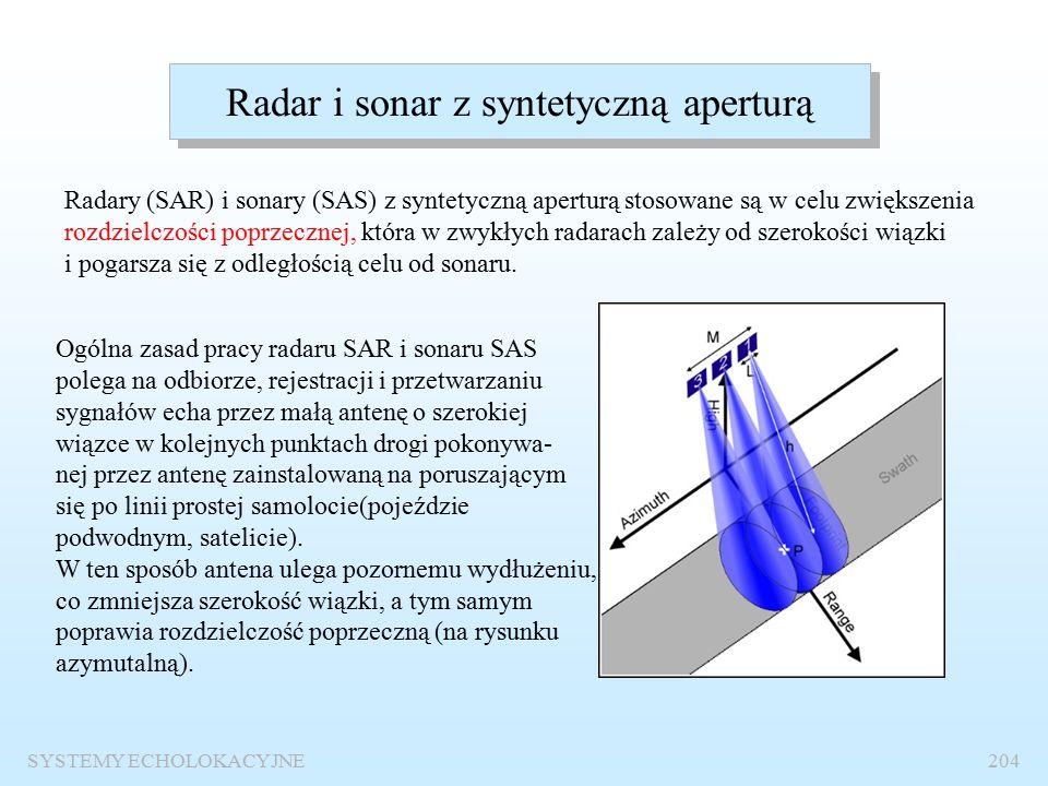 SYSTEMY ECHOLOKACYJNE203 Radar meteorologiczny