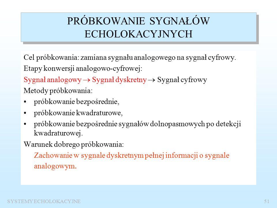 SYSTEMY ECHOLOKACYJNE50