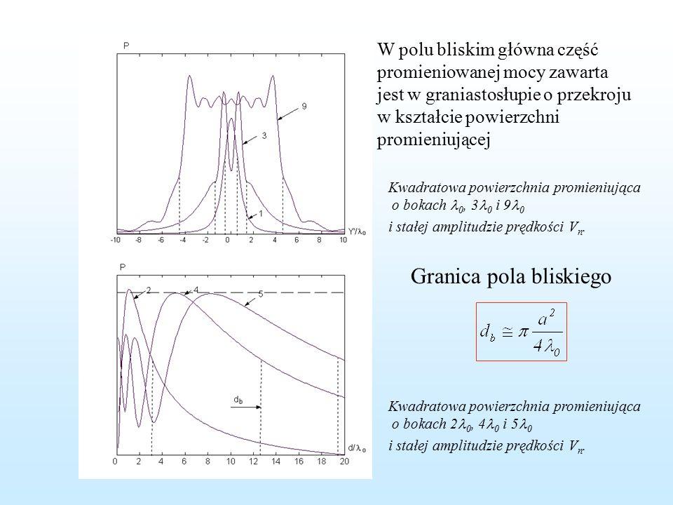 Numeryczne wyznaczanie rozkładu ciśnienia w polu bliski.