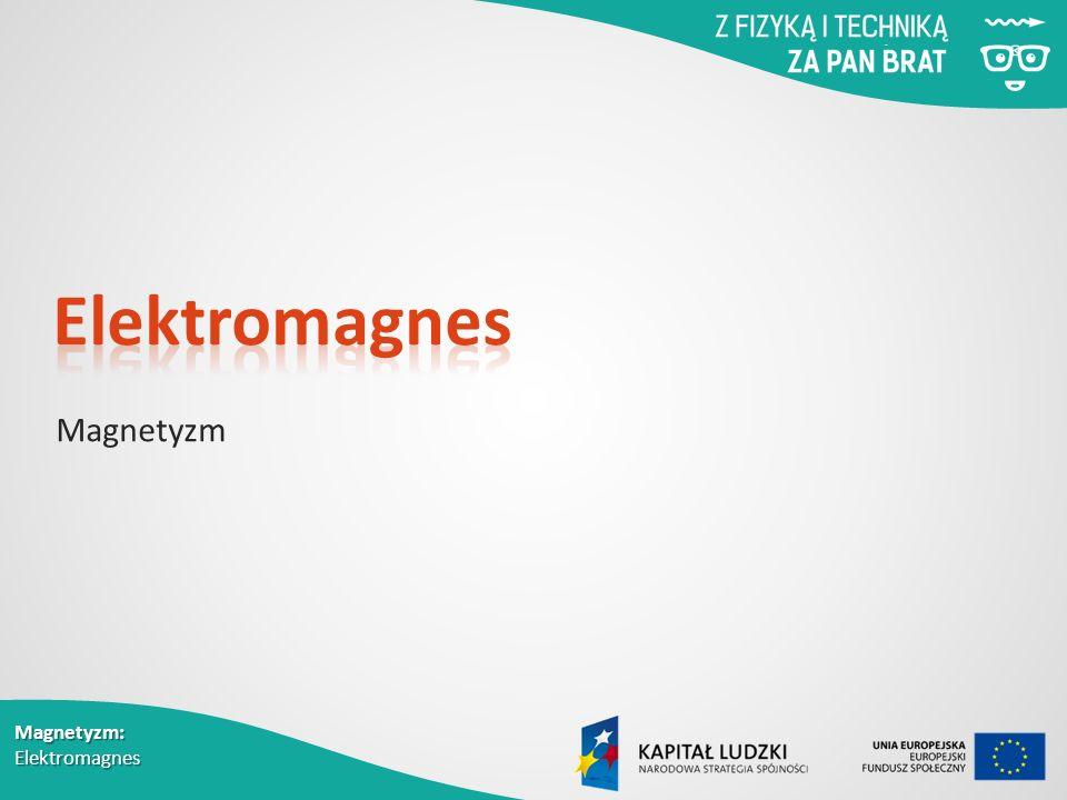 Magnetyzm: Elektromagnes Magnetyzm