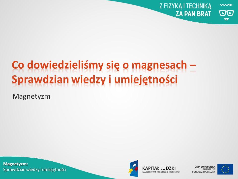 Magnetyzm: Sprawdzian wiedzy i umiejętności Magnetyzm