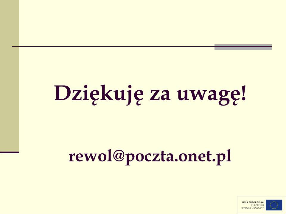 Dziękuję za uwagę! rewol@poczta.onet.pl