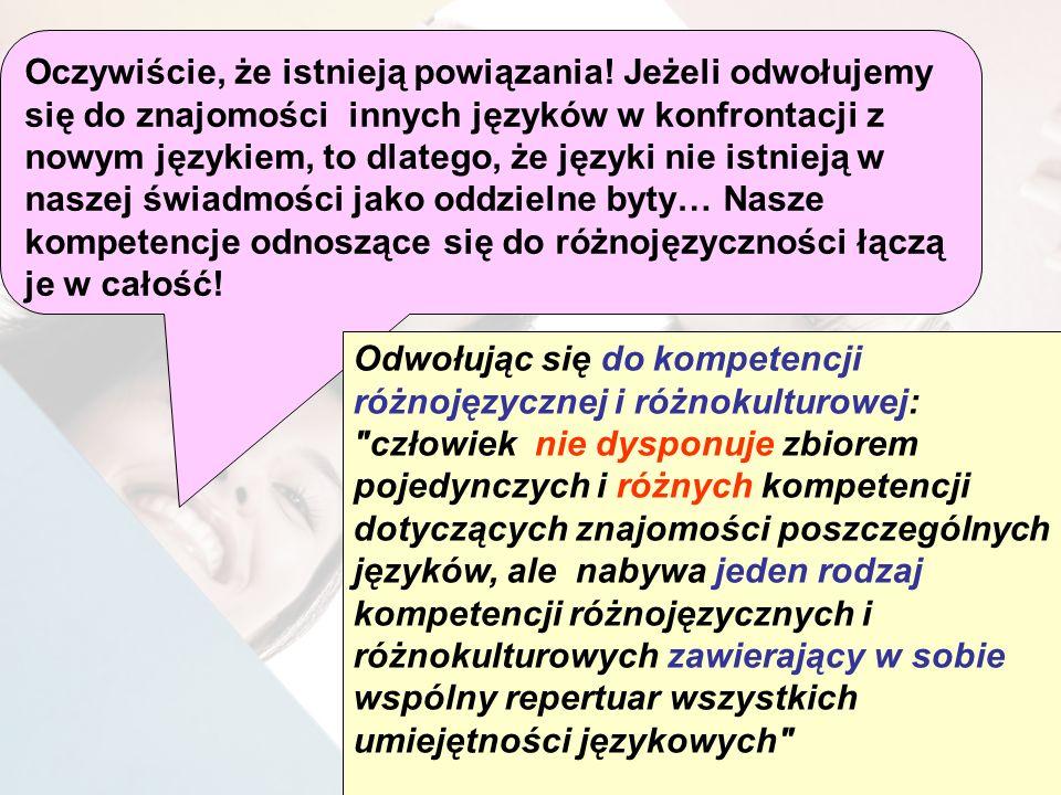 Oczywiście, że istnieją powiązania! Jeżeli odwołujemy się do znajomości innych języków w konfrontacji z nowym językiem, to dlatego, że języki nie istn