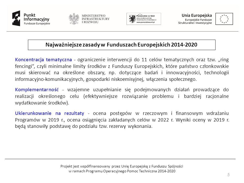 Projekt jest współfinansowany przez Unię Europejską z Funduszu Spójności w ramach Programu Operacyjnego Pomoc Techniczna 2014-2020 Typy projektów sektorowe programy B+R Programy sektorowe służą realizacji dużych przedsięwzięć B+R, istotnych dla rozwoju poszczególnych branż/sektorów gospodarki.