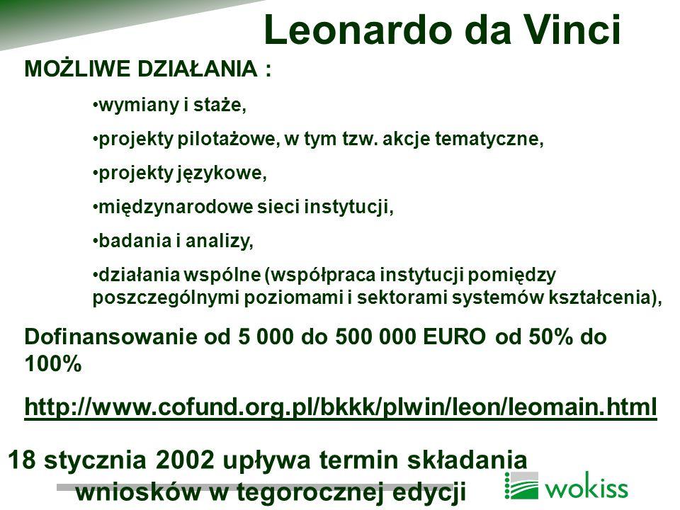 AKCJE : Akcja 1: Młodzież dla Europy - Wymiana Młodzieży Akcja 2: Wolontariat Europejski Akcja 3: Inicjatywy Młodzieżowe Akcja 4: Wspólne działania ( obejmujące inne programy takie jak Leonardo Da Vinci czy Sokrates ) Akcja 5: Działania wspierające (współpraca i grupy partnerskie, szkolenia, informacja dla młodzieży) http://www.youth.org.pl/ CHARAKTER MIĘDZYNARODOWY PROGRAM MŁODZIEŻ