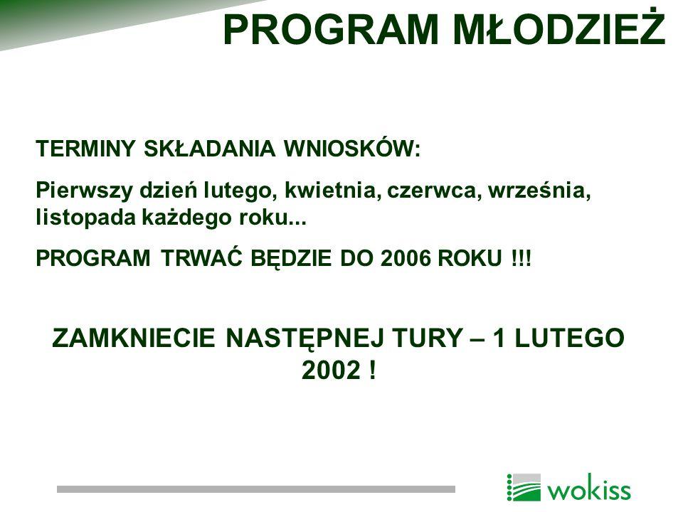 CEL: Podniesienie jakości edukacji szkolnej i promowanie świadomości wymiaru europejskiego w procesach edukacyjnych WDRAŻANIE- Fundacja Rozwoju Systemu Edukacji Formularze zgłoszeniowe na rok 2002 będą dostępne na początku stycznia 2002 PROGRAM SOKRATES- COMENIUS http://www.socrates.org.pl/comenius/index.html