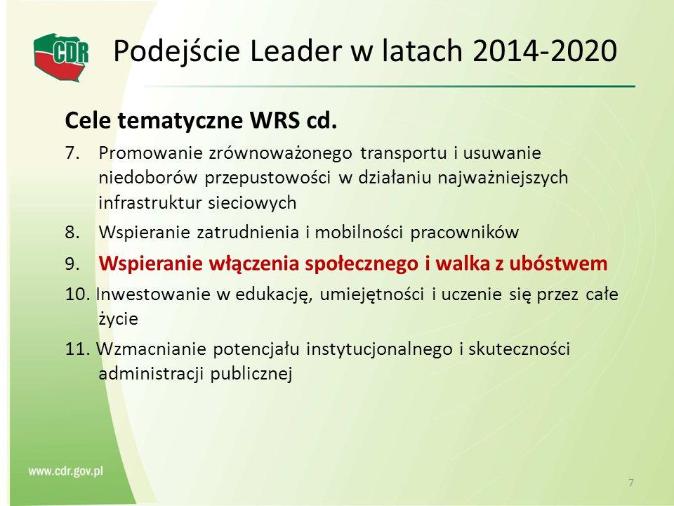Cele tematyczne WRS cd. 7. Promowanie zrównoważonego transportu i usuwanie niedoborów przepustowości w działaniu najważniejszych infrastruktur sieciow