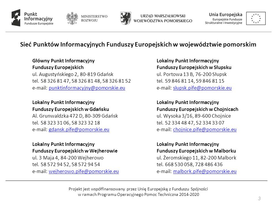 Główny Punkt Informacyjny Funduszy Europejskich ul.